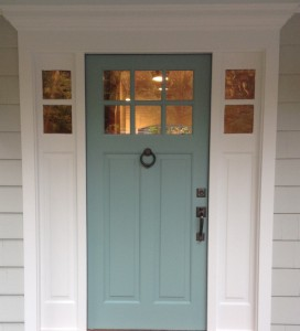 Wilton entry door and sidelights
